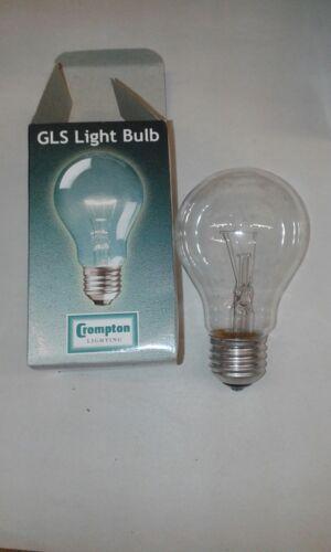 8x Crompton 40 W Clear E27 ES GLS Ampoule Lampe diamètre 60 mm Job Lot Vendeur Britannique
