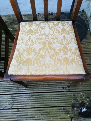 4 x Wooden dining chairs used