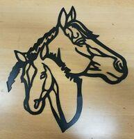 Horses Metal Wall Art Plasma Cut Decor