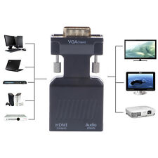 1080P VGA Male to HDMI Female w/ 3.5mm Audio USB Plug Cable Lovable Adapter New