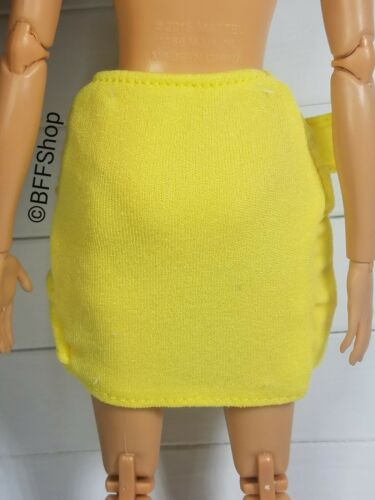MATTEL YELLOW WRAP SKIRT BARBIE FASHIONISTAS FASHION CLOTHES CLOTHING