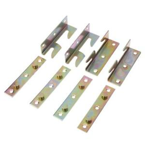 8Pcs-set-Iron-Bed-Fitting-Connectors-Bracket-Joiners-Hook-82mm-Frame-Replacement