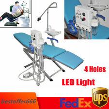 4h Portable Dental Folding Chair Simple Type Rechargeable Led Lightturbine Unit