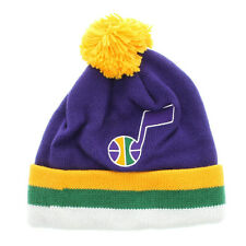 1907fb38a11 Mitchell   Ness Utah Jazz The Cuffed Pom Knit Beanie - Team Colors Retro