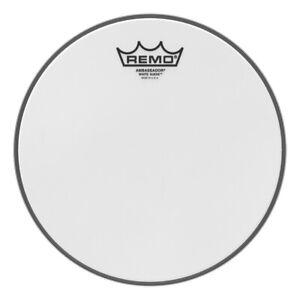 remo snare drum tom heads white suede ambassador 10 757242538449 ebay. Black Bedroom Furniture Sets. Home Design Ideas
