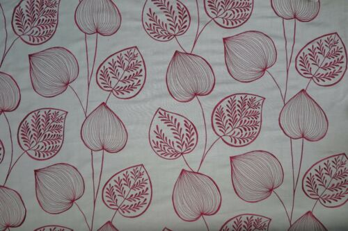 HARLEQUIN CURTAIN FABRIC Akela 3 METRES CRIMSON//TAUPE SEVERAL LENGTH EMBROIDERED