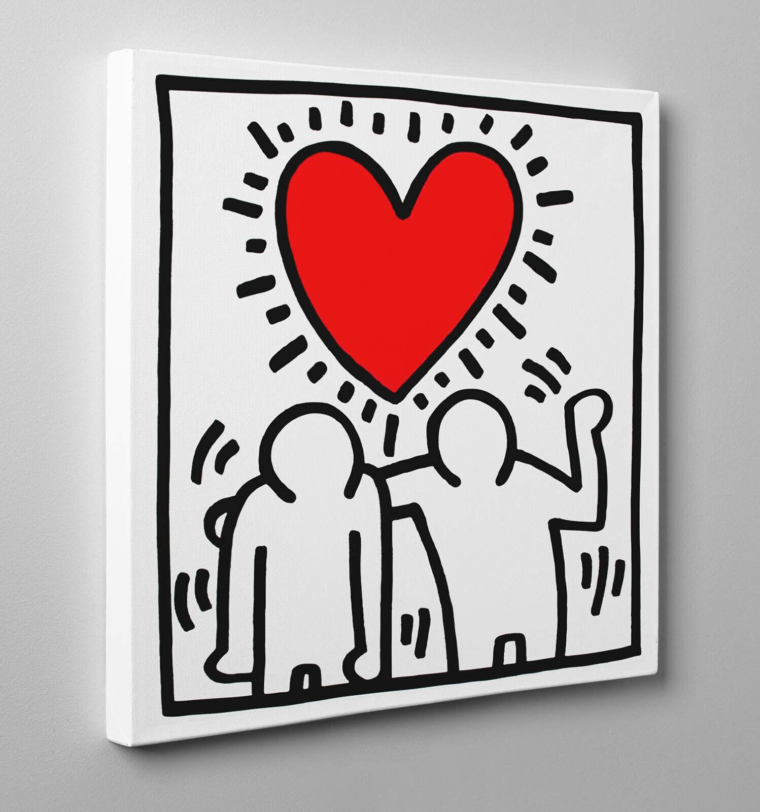 ️Peinture Haring Mariage Invitation Affiche Impression sur Toile Vernis