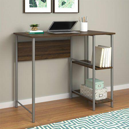 Brilliant Ameriwood Home Garrett Metal Office Desk With 2 Side Shelves Multiple Colors Home Remodeling Inspirations Basidirectenergyitoicom
