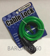 3Ft Bike Bicycle Security Anti-Theft Steel Cable Lock Chain W//2 Keys 4 Colors