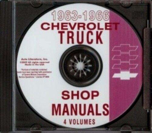 CHEVROLET 1963-1966 Pickup Blazer Van Suburban /& Truck Shop Manual CD