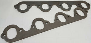 Set-Ford-429-460-V8-exhaust-header-flanges-HD-3-8-034-1-5-8-034-wide-X-2-1-4-034-tall