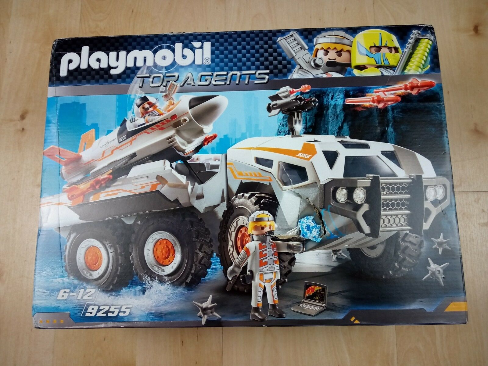 Playmobil 9255 Top Agents SpyTeam Battle Truck with Spy Jet Launch Pad Toy Set