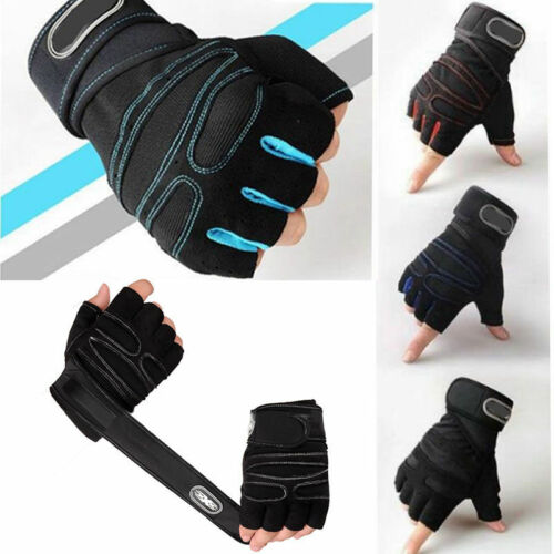 Men Women Weight lifting Gym Dumbbell Bracers Gloves Training Fitness Sports