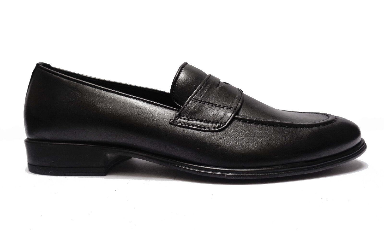 shoes DA men ANTICA CUOIERIA MOCASSINI IN PELLE black FONDO IN GOMMA LEGGERA
