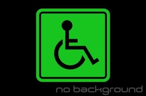 Handicap Sticker Vinyl Decal Die Cut Wheelchair Disability Car Window Lift Van