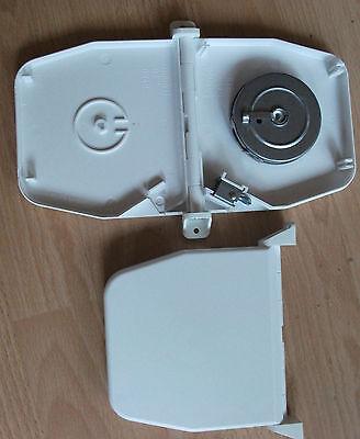 2Stück Qualitäts Rolladen Mini Gurtwickler Aufschraubwickler zum aufklappen Weiß