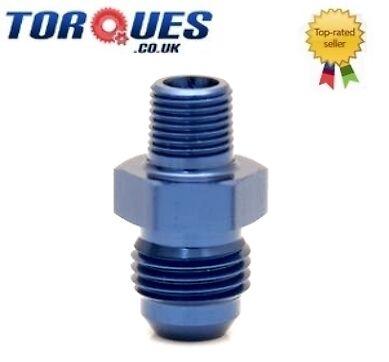"""à 1//4 /""""npt straight facette rouge JIC8 bleu top fuel pump Adaptateur 8 Un"""