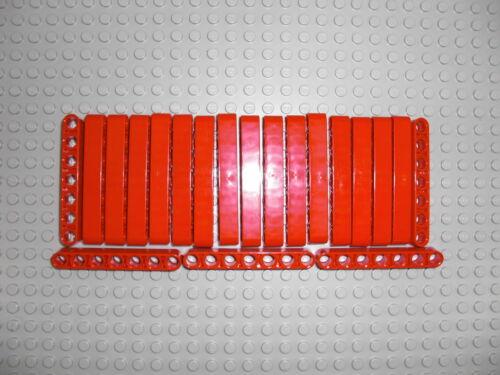 LEGO Technic - 20x Lochbalken Lochstange Liftarm beam 1x7 rot / red 32524