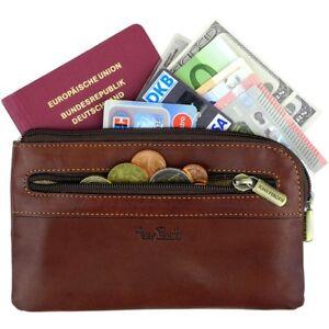 TONY-PEROTTI-Autotasche-Geldtasche-Echtleder-Banktasche-Geldmappe-Belegtasche
