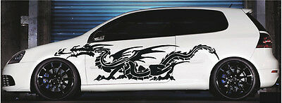 Car Truck Side Decals Dragon Vinyl Cut Auto Graphics 4ft and up