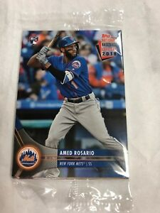 Details About 2018 Topps National Baseball Card Day Pack Featuring Amed Rosario New York Mets