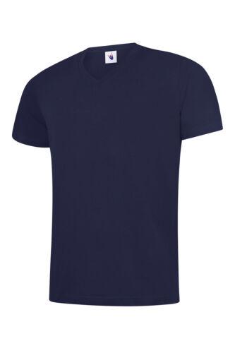 UNEEK Unisex Men/'s Classic V Neck Tee Shirt 100/% Cotton T Casual Summer Tee TOP