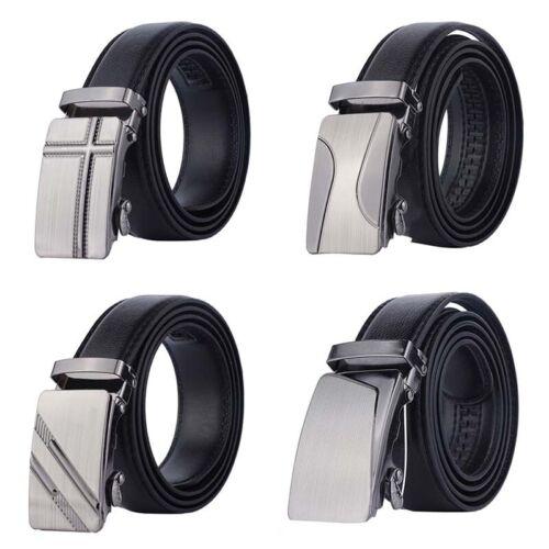 Automatic Buckle Belt Men/'s Leather Belt Business Fashion Belts Black Fad US