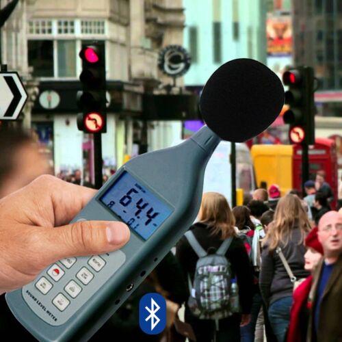 SL5868 Digital Sound Pressure Noise Level Meter 30~130 dB Decibel CD Bluetooth