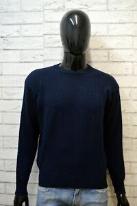 Maglione-Uomo-Blu-FILA-Taglia-XL-Pullover-Lana-Cardigan-Maglia-Sweater-Man-Wool