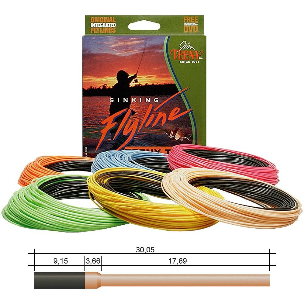 Jim TEENY TS-T Long Distance Sinking Fliegenschnur - Fly Line - WF - UVP
