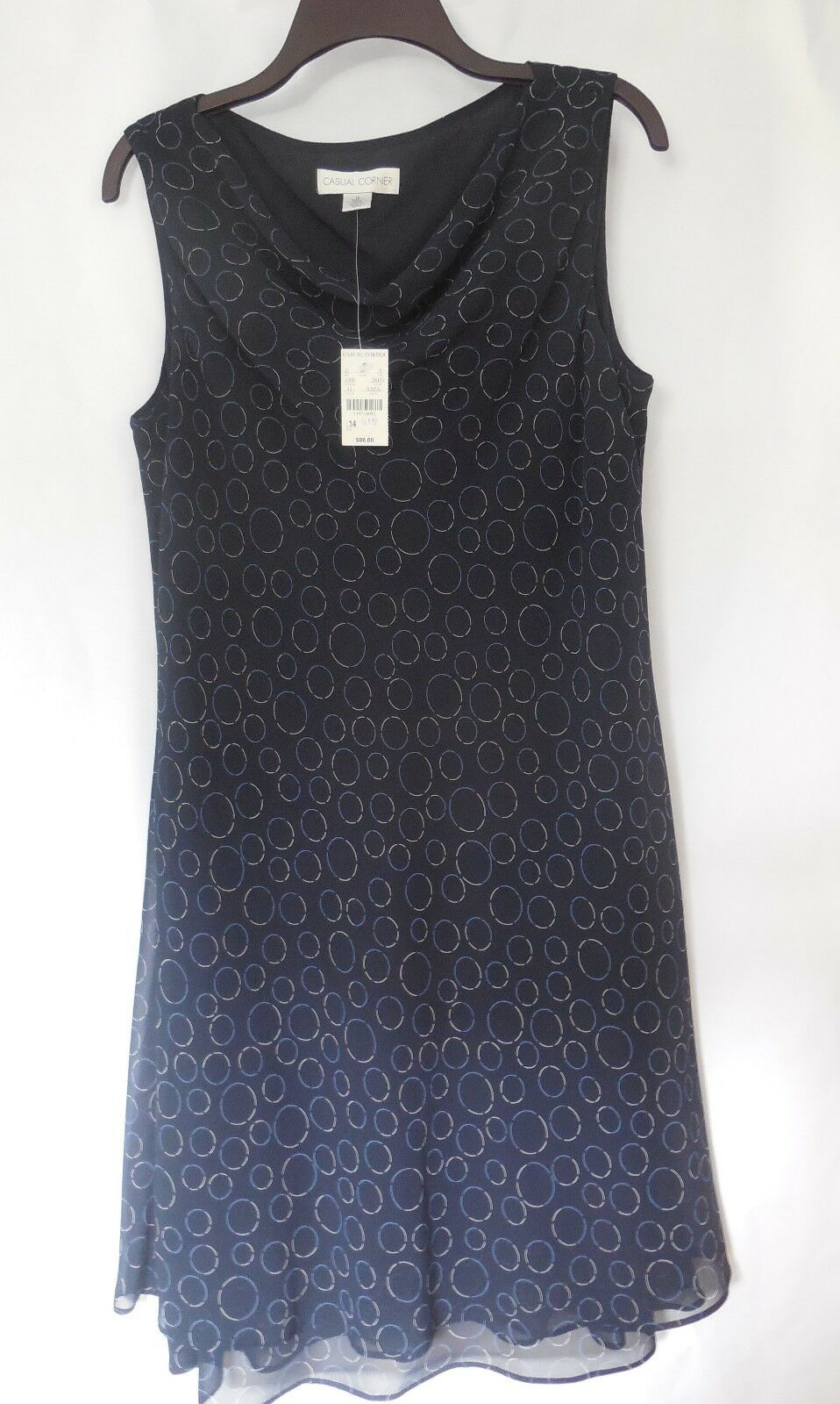Casual Corner Women's Print Dress - Size 14 - NWT