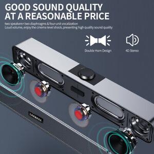 Computer Bluetooth Speaker Sound Bar Audio Stereo Kabelloser Lautsprecher I2A3