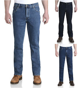 Wrangler-Durable-Stretch-Denim-Jeans-Regular-Fit-Rinsewash-Darkstone-Stonewash