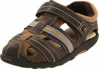 Stride Rite Shoes Fisherman Sandals Dillan Brown Stone 4.5 M