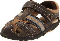 Stride Rite Shoes Fisherman Sandals Dillan Brown Stone 4.5 M