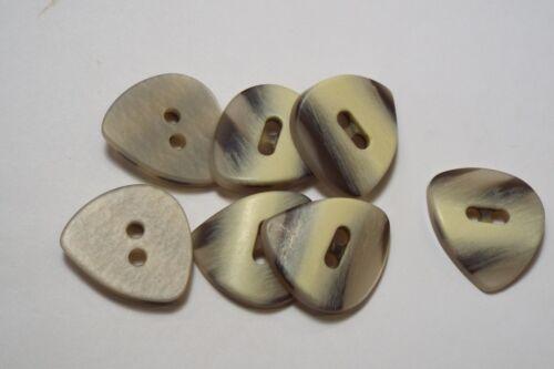 8pc 34mm Cream Grey Aged Wood Effect Cardigan Trouser Shirt Kid Baby Button 0644