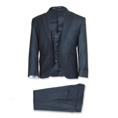 Boys Charcoal Grey Suit Designer Page Boy Wedding Slim Fit Communion Grey Suits