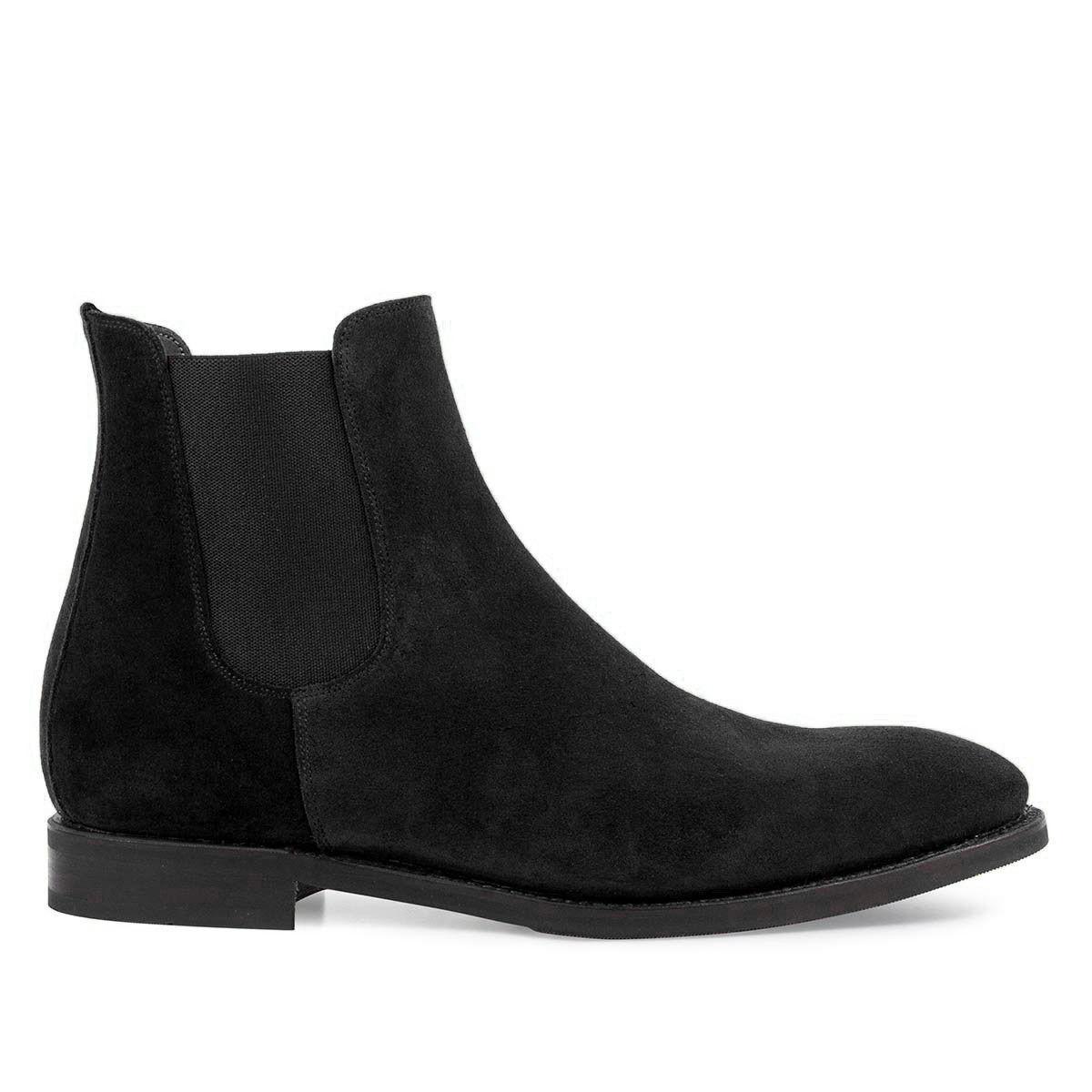 Handmade Suede Chelsea Leather Stiefel for men men men Dress Business Office casual schuhe 02e886