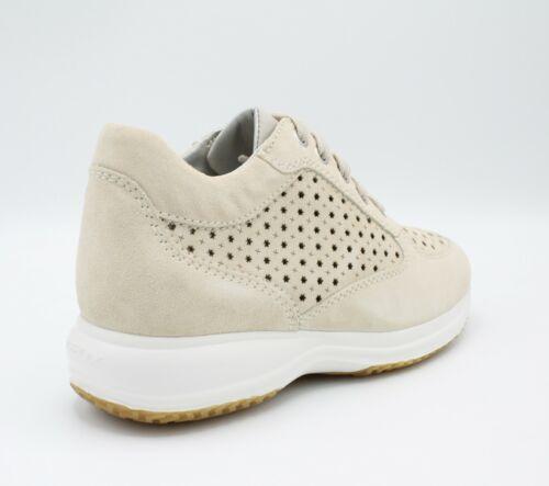 Sneakers Happy Camoscio Estive Scarpe Geox Da Comode Con Scarpa Donna Zeppa In wt4ZT