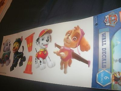 """B86 6 Nickelodeon Paw Patrol Die Cut Wall Decal Stickers 15/"""" Sheet Removable"""