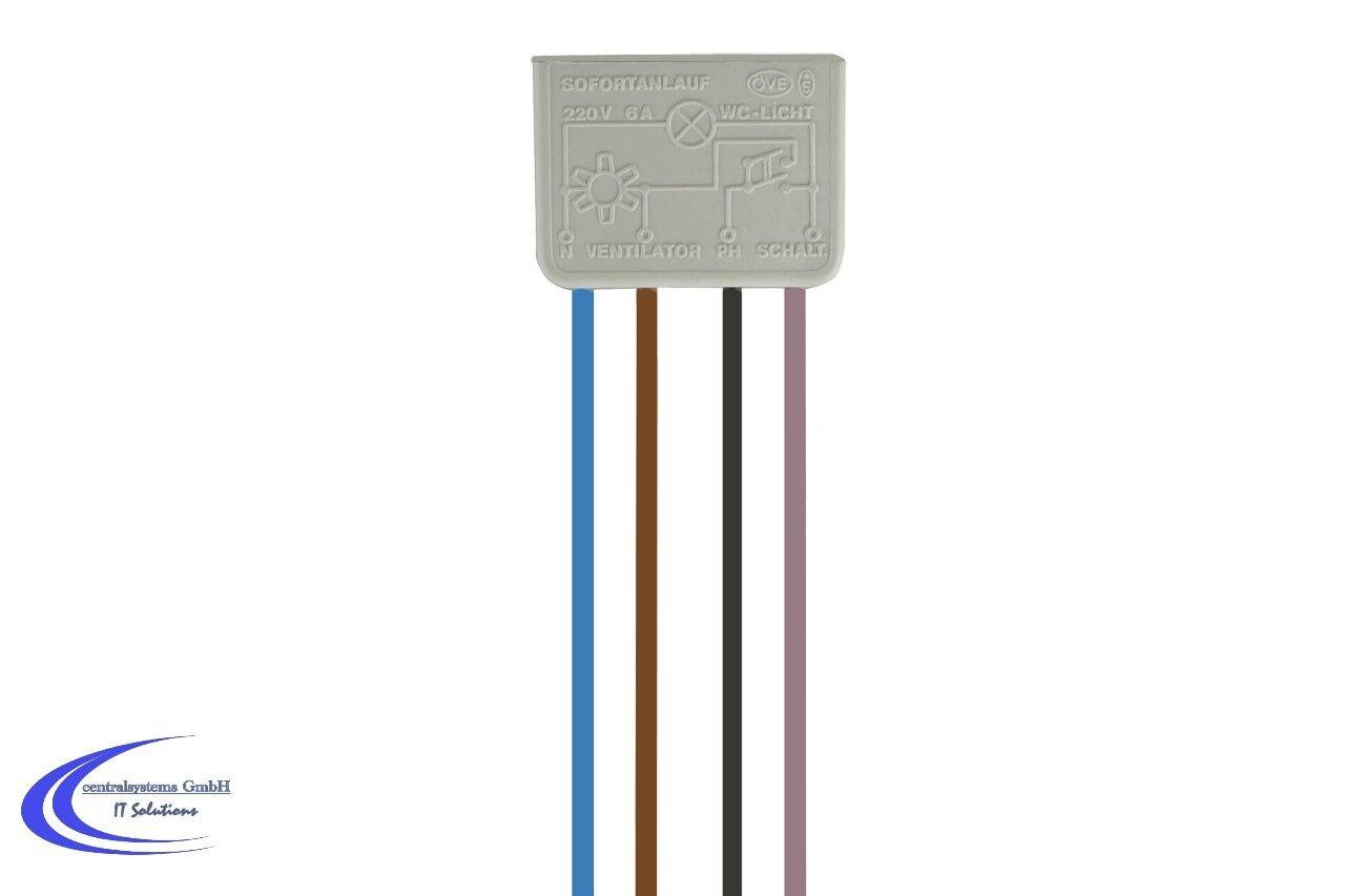 Nachlaufschalter thermisch 6a Wallair | eBay