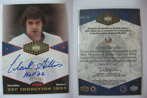 2004-05-UD-Legendary-Signatures-Clark-Gillies-085-102-HOF-induction-inks-auto