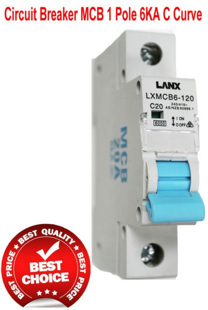 Din Rail Mount 10A Circuit Breaker MCB Electric Main Switch Switchboards