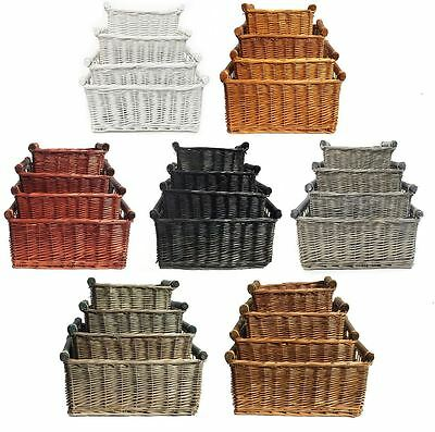 Sporting Large Wicker Log Basket Storage Logs Firewood Fireplace Wood Carrier Hamper Gift Voorzichtige Berekening En Strikte Budgettering