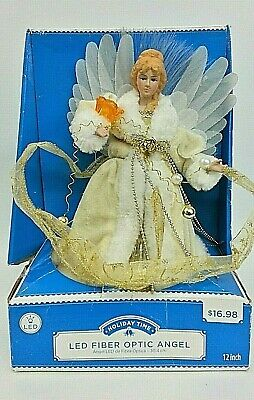 Led Fiber Optic Angel Christmas Decor Tree Topper 12 Holiday Time Ebay