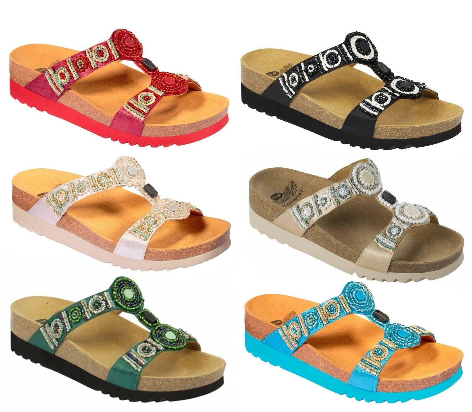 Scholl bioprint NEW Bogota Wedge Sandals Slippers Clogs Slippers Women Wedge