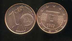 MALTE    1 cent  2008  SPL  neuve  ( sortie du rouleau )