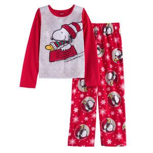 1f718ad36883 Jammies for Family Peanuts Snoopy Christmas Pajamas Sleepwear Set ...