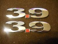 Dodge Dakota Chevrolet Uplander Impala 3.9l 3.9 Fender Trunk Emblems Chrome Pair