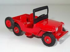 (M) dinky UNIVERSAL JEEP - 405 rare red plastic hubs